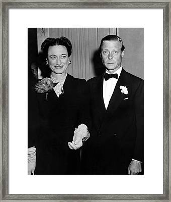 Duke And Duchess Of Windsor Framed Print by Everett