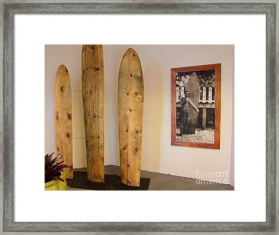 Duke Kahanamoku Surfboards Framed Print by Mary Deal