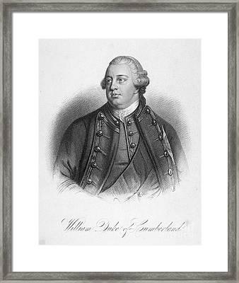 Duke Of Cumberland Framed Print by Granger