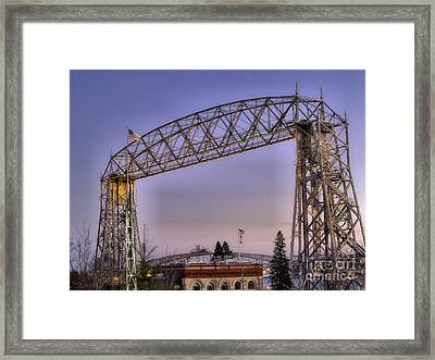Duluth Lift Bridge Framed Print