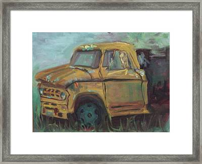 Framed Print featuring the painting Dump Truck by Carol Berning