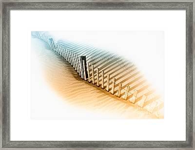 Dune Fence Framed Print by Dan Carmichael