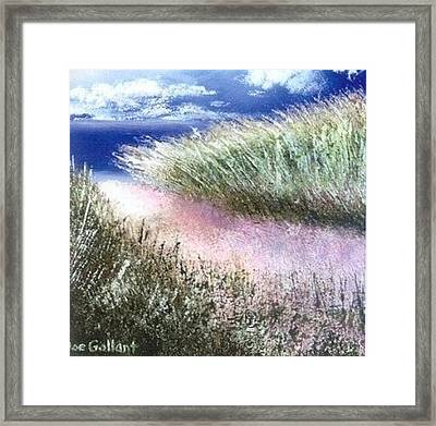 Dune Path Framed Print by Joseph Gallant