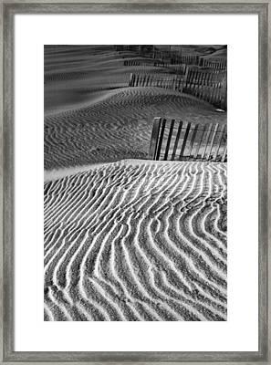 Dune Patterns Framed Print by Steven Ainsworth
