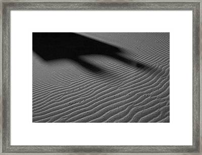 Dune Tracks Framed Print by Rob Outwater