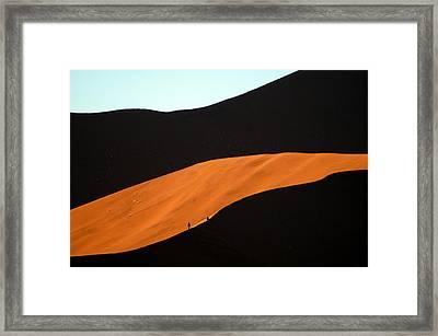 Dune Tunnel Framed Print
