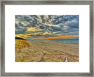 Framed Print featuring the photograph Dunes Sunset I by William Fields