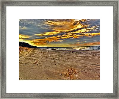 Framed Print featuring the photograph Dunes Sunset II by William Fields