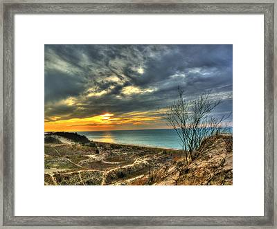 Framed Print featuring the photograph Dunes Sunset IIi by William Fields