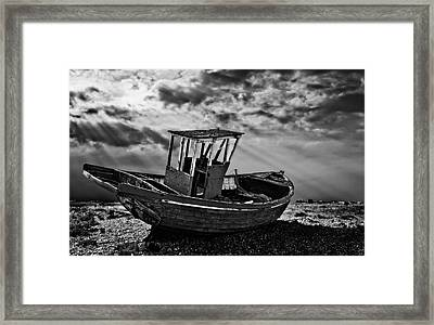 Dungeness In Mono Framed Print