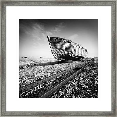 Dungeness Ship Wreck Framed Print by Nina Papiorek