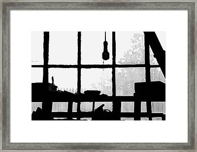 Framed Print featuring the photograph Dunklee Window by Tom Singleton