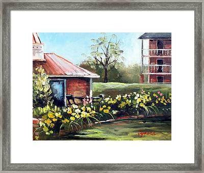 Dunleith In Yellow Framed Print