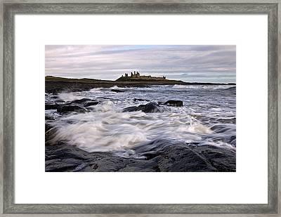 Dunstanburgh Castle Iv Framed Print by David Pringle