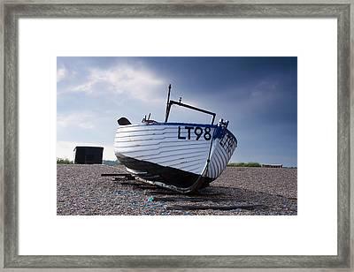 Dunwich Fishing Boat. Framed Print by Ian Merton