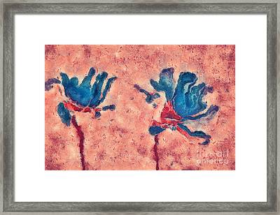 Duo Daisies - 02blt3dp1c2 Framed Print by Variance Collections