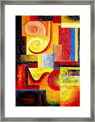 Duospiral Framed Print