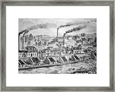 Dupont Powder Mill, 1854 Framed Print by Granger