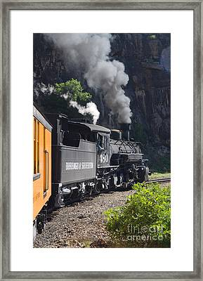 Durango And Silverton Historic Train Framed Print by Stuart Wilson and Photo Researchers