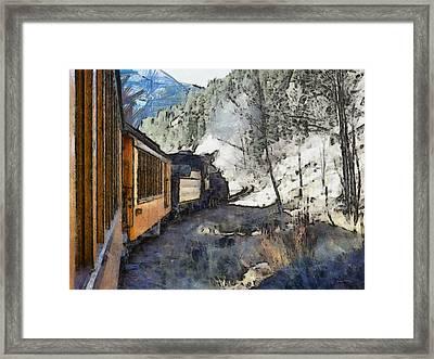 Durango Silverton Painterly Framed Print by Ernie Echols