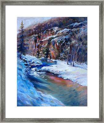 Durango Stream Framed Print by Bonnie Goedecke