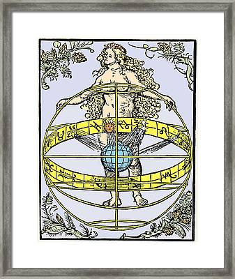 Durer's Nude Woman With Zodiac Framed Print by Sheila Terry