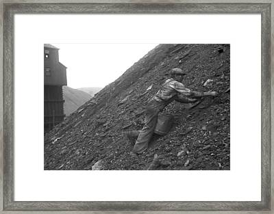 During The Great Depression A Man Framed Print