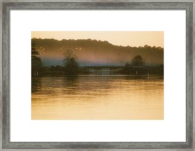 Dusk And Fog Framed Print