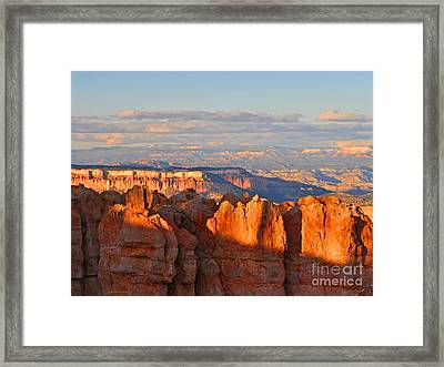 Dusk At Bryce Canyon National Park Framed Print by Nature Scapes Fine Art