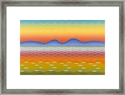 Dusk At Lake Balaton Framed Print