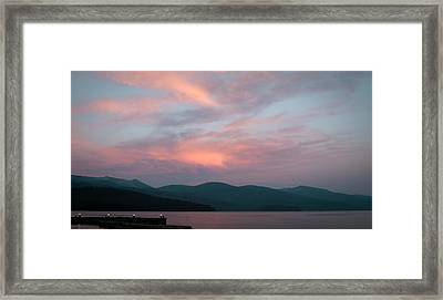 Dusk At Priest Lake Framed Print by David Patterson