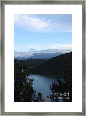 Framed Print featuring the photograph Dusk At Ridgway Reservoir by Marta Alfred