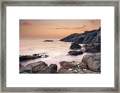 Dusk In Costa Brava Framed Print
