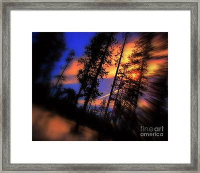 Framed Print featuring the photograph Dusk by Irina Hays