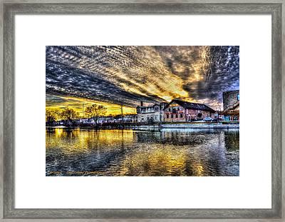 Dusk On The Fox River Framed Print by Dan Crosby