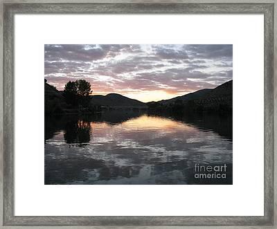 Framed Print featuring the photograph Dusk On The River by Arlene Carmel