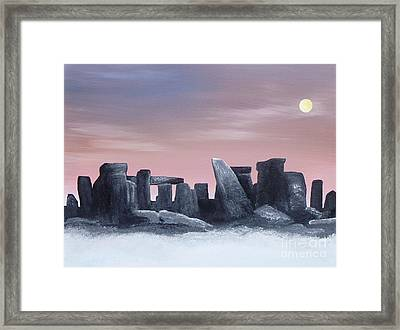 Dusk On The Winter Solstice At Stonehenge 1877 Framed Print by Alys Caviness-Gober