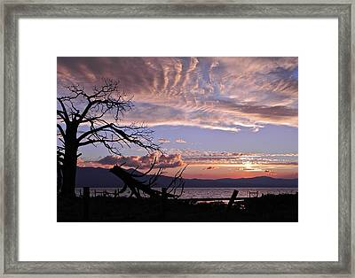 Dusk Over Lake Tahoe Framed Print by Kirsten Giving