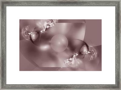 Dusky Pink Dreams Framed Print by Georgiana Romanovna