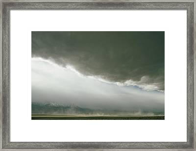 Dust Blows Off Owens Lake, Dried Framed Print