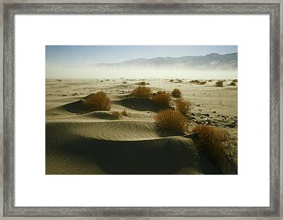Dust Blows Off Owens Lake, Dry Framed Print