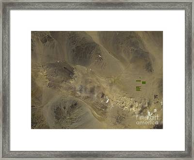 Dust Storm In Southern California Framed Print by Nasa