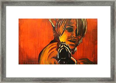 Dust Up  Framed Print