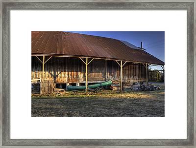 Dusty Canoe  Framed Print by Tyra  OBryant