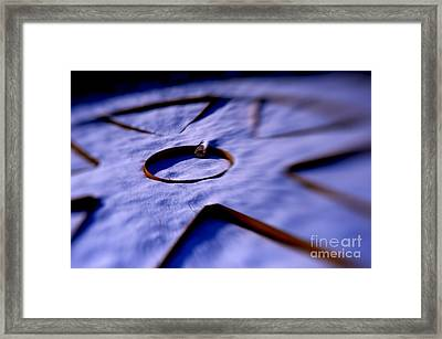 Dusty Snow And Geometry Second Look Framed Print by Anca Jugarean