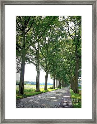 Dutch Road - Digital Painting Framed Print by Carol Groenen