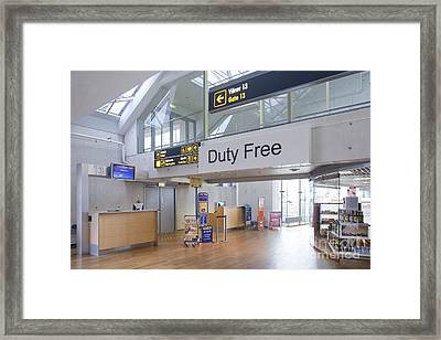 Duty Free Shop At An Airport Framed Print by Jaak Nilson