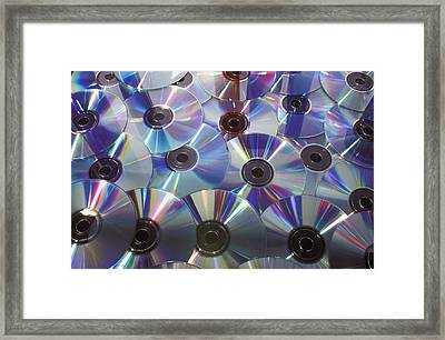 Dvds And Cds Framed Print by David Chapman