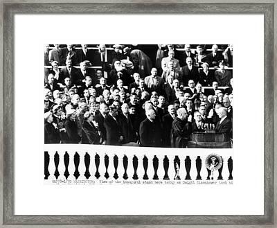 Dwight Eisenhower First Inauguration Framed Print by Everett