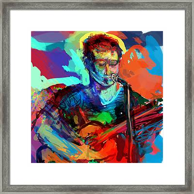 Dylan's Performance Framed Print by James Thomas